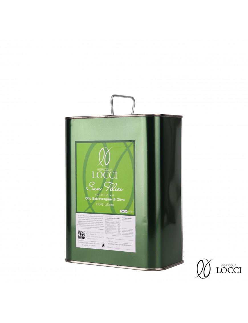 Can of Monocultivar Extra Virgin Olive Oil San Felice (3L)