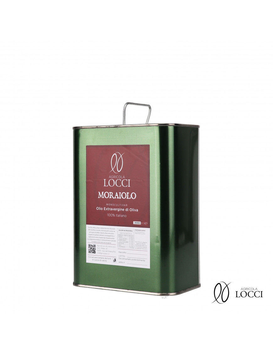 Can of Monocultivar Extra Virgin Olive Oil  Moraiolo (3L)
