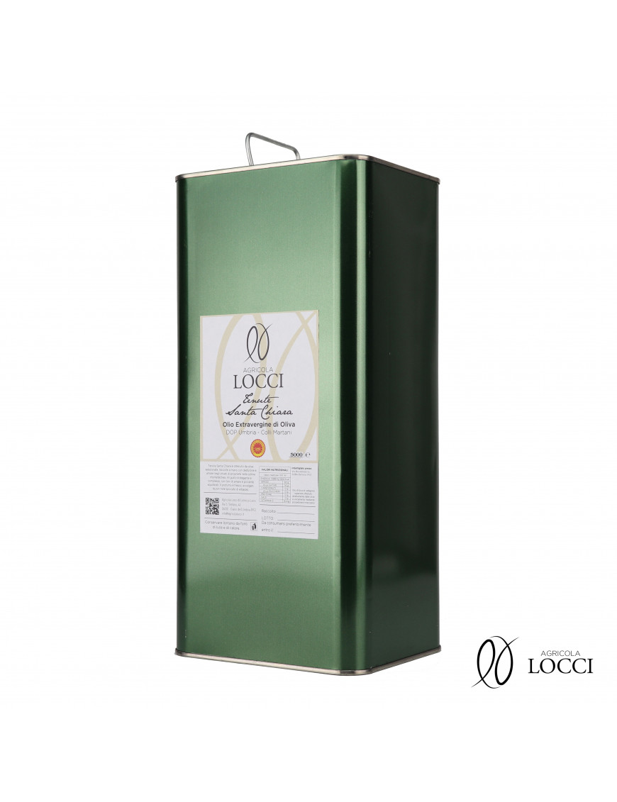 Can of Extra Virgin Olive Oil Umbria DOP |Tenute Santa Chiara (5L)