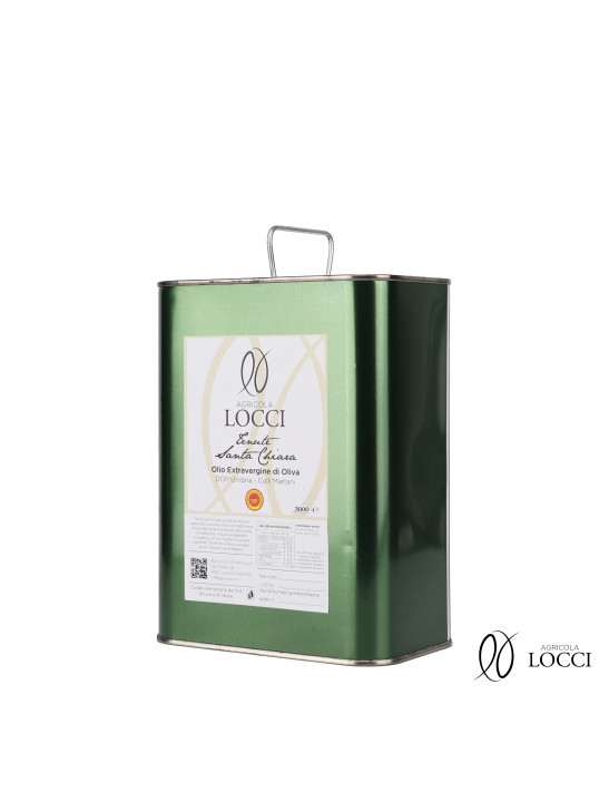 3 liters can of extra virgin olive oil dop umbria