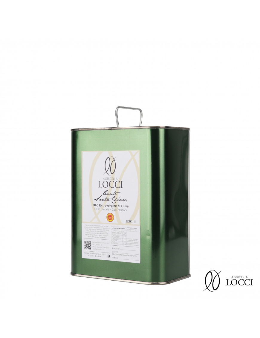 Can of Extra Virgin Olive Oil DOP Umbria|Tenute Santa Chiara (2L)
