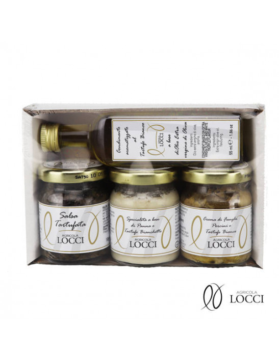 Truffle tasting in a pack of 4 jars