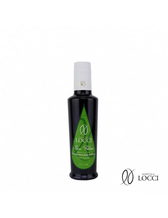 Olio extravergine di oliva monocultivar san felice in bottiglia da 250ml