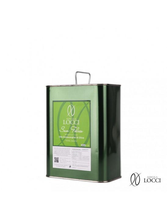 San Felice Monocultivar extra virgin olive oil in a 2 liter can
