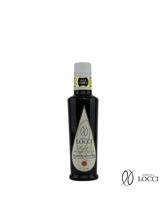 Umbrian extra virgin olive oil DOP in a 250ml bottle