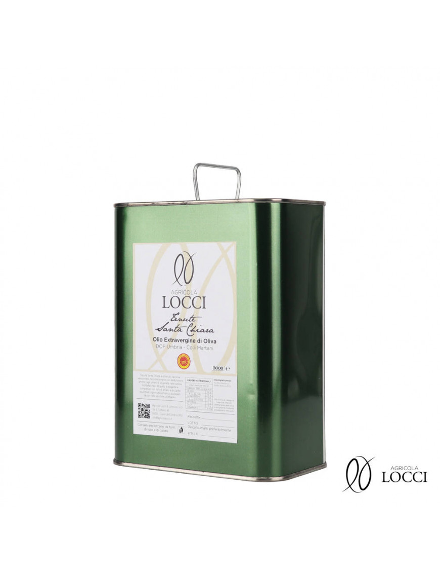 Umbrian extra virgin olive oil DOP in a Can|Tenute Santa Chiara - Agricola Locci
