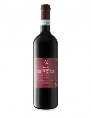 Red wine of Montefalco DOC in the bottle