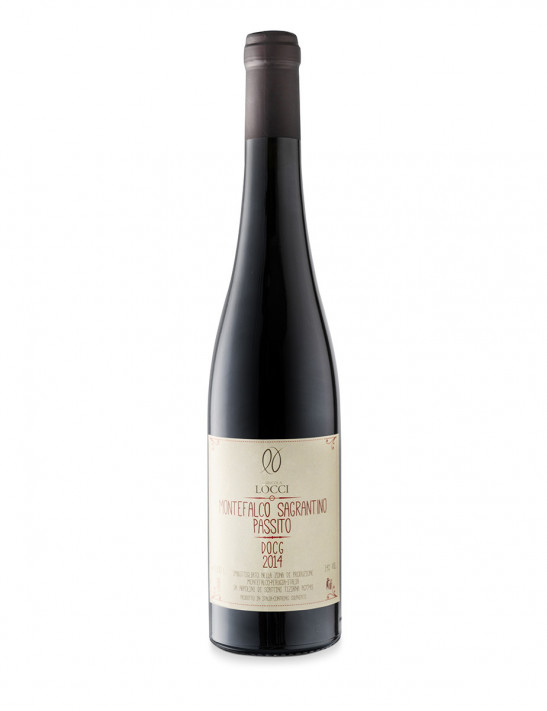 Sagrantino of Montefalco sweet DOCG in the bottle