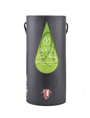 Monocultivar San Felice in a 3-liter tube can with tap